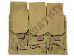 Triple Rifle Magazine Pouch M4/M16 M14/G36 MOLLE Tan Colour (P005)